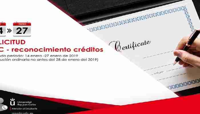 Reconocimiento Académico de Créditos URJC